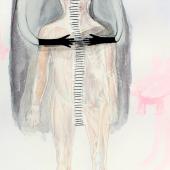 """""""Die Geister die ich rief"""", Mischtechnik auf Papier, 42 x 29,5 cm, 2018"""
