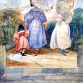 "Burford GRANTA FINE ART      Ruth Webb-Cope Cambridge .A wide selection of mainly 20th century paintings. Image: Thomas Boddington ""Parasol"""
