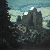 """Ernst Liebermann """"Thüringer Kloster im Mondschein"""""""