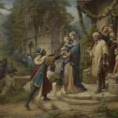 Leopold Bode, Pippin und Bertha (Die Sage von der Geburt und Kindheit Kaiser Karls des Großen), 1876 Bayerische Staatsgemäldesammlungen, Sammlung Schack, München