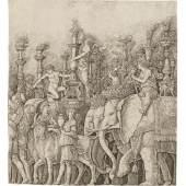 Mantegna Werkstatt, Die Elefanten, 1490/1500 Variation zu Andrea Mantegna, Triumphzug Cäsars, Szene V, um 1500 Kupferstich, 283 x 259 mm (Blatt) © Staatliche Graphische Sammlung Münch
