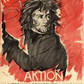 Max Oppenheimer: Revolutionsball der Aktion, 1914. Lithographie, 71 x 45,5 cm. Staatliche Museen z