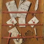 25. Edwaert Collier, Trompe l'oeil with a letter rack, est. £25,000-35,000. Credit Sotheby's