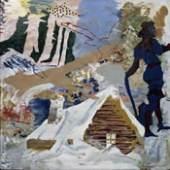 Der Mord in der Scheune von Finnerup, 1967 Mischtechnik auf Masonit 122,2 x 122,2 cm Louisiana Museum of Modern Art, Humlebæk, gespendet von Otto Bruuns Fondation ©Per Kirkeby, Courtesy Galerie Michael Werner Berlin, Köln & New York
