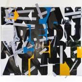 Tomas Eller, Expanded Uncertainty, 2012 Tape und lichtreflektierende Folie auf Fotopapier, 128 x 150 cm
