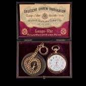 Modell 'Sidestep' des Uhrenherstellers  Lange & Söhne Glashütte I/SA, anläßlich des Jubiläums der Firma Wempe