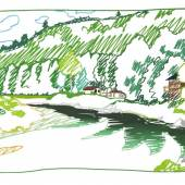 261 TOM WESSELMANN Cochecton Pool, Delaware River (from Lynda's), 1989. Steelcut Schätzpreis: € 140.000 - 180.000