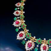 Van Cleef & Arpels  A magnificent ruby, emerald and diamond necklace of oriental inspiration   Epoque Fine Jewels