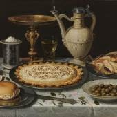 Clara Peeters Werkzaam in Antwerpen, c.1607-1621 of later Stilleven met tazza, kan en lekkernijen, c.1611 Paneel, 55 x 73 cm Madrid, Museo Nacional del Prado