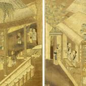 ZWEI STICKEREIEN China, 18. Jh. 137,5 x 37,5 cm. Ergebnis: CHF 50 000