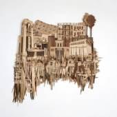 Material: 30 Veneer-Schichten Maße: 200 x 186 cm
