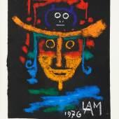 Wifredo Lam, Ohne Titel, 1976, Pastellkreide auf schwarzem Büttenpapier © VG Bild-Kunst, Bonn 2015