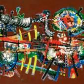 Lucas Suppin (Untertauern 1911 – 1998 Salzburg)  Tachistische Komposition                                                                                            Öl auf Leinwand  signiert und verso datiert 1969, 73 x 99 cm