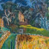 Pierre Bonnard 1867–1947 Paysage méridional, l'enclos aux chèvres, 1944/1945  Verkauft für: 243'080 CHF