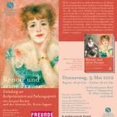 Renoir und seine Frauen - Flyer © Kunstmuseum Basel