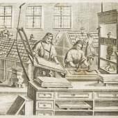 Ansicht eines Offizins und Beschreibung der Buchdruckerei  © TLM