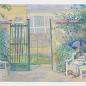 ALFRED HAGEL Beschreibung ALFRED HAGEL (Wien 1885 - 1945 Wien) Dame mit Sonnenschirm Mischtechnik/Papier, 36,3 x 41,1 cm signiert Hagel  SCHÄTZPREIS/ESTIMATE °€ 500 – 1000