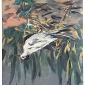 Georg Baselitz Trauerseeschwalbe, 1972 Oil on canvas. 162.5 x 130.7 cm (63.98 x 51.46 in) © Georg Baselitz