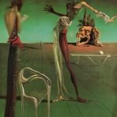 Salvador Dalí Femme à tête de roses, 1925 Öl auf Holz, 35 x 27 cm Kunsthaus Zürich © Salvador Dalí, Fundació Gala-Salvador Dalí / 2018 ProLitteris, Zürich