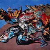 """((Bild Youri Jarkikh Prometheus; Bildnachweis: Youri Jarkikh)): Grotesk emotional und kraftvoll auf die Leinwand gebannt: """"Prometheus"""" von Youri Jarkikh."""
