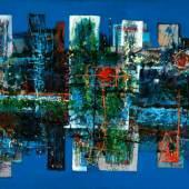 Lucas Suppin (Untertauern 1911 – 1998 Salzburg)  Große abstrakte Komposition  Öl auf Leinwand  signiert und datiert 1968, 115 x 190 cm