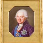 PIETRO DE ROSSI: Miniatur mit dem Porträt von Alexander Michailowitsch Golitsin, Moskau, 1810, 8,4 x 7,6 cm (mit vergoldetem Bronzerahmen), Email über Kupfer, Erlös 37.000€