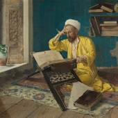 Osman Hamdi Bey, Über den Koran meditierend, 1902  Foto: Johannes Stoll / Belvedere, Wien