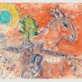 312088 Marc Chagall, L'ne sur Vence. Farbmonotypie, handsig. u.l., 29,5x39 cm SP 48000