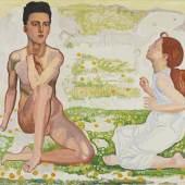 FERDINAND HODLER Der Frühling. Fassung IV. Um 1912. Öl auf Leinwand. Signiert. 106x128,5 cm. CHF 4 Mio. / 6 Mio.