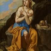 Artemisia Gentileschi (1593 – 1654)  Maria Magdalena in Ekstase | Öl auf Holz | 68 x 48cm Schätzpreis: 30.000 – 40.000 €