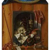 Franciscus Gysbrechts (1649 – um 1677)  Trompe-l'oeil eines Vanitas-Stilllebens | Öl auf Leinwand | 143 x 99cm Taxe: 18.000 – 25.000 €