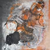201 August Stimpfl Weiblicher Akt Mischtechnik auf Fabriano,  110 x 100 cm, gerahmt mit Muse- umsglas Signiert Nudo femminile Tecnica mista su carta fabriano,  110 x 100 cm, incorniciato con vetro  museale Firmata 4.