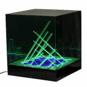 Leuchtobjekt Cubo di Teo James Riviere