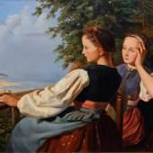 Lot. 34: Johann Caspar Coqui 'Zwei Mädchen an der Ostsee'