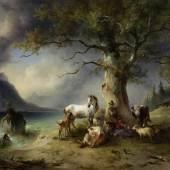 Friedrich Gauermann, Der schützende Baum, um 1840 © Leopold Privatsammlung