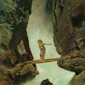 Anton Romako, Mädchen, einen Wildbach überschreitend, 1880/1882 © Leopold Museum Vienna