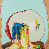 GAMA, Gate of pure land IV, 2016, courtesy Galerie Michael Schultz  GAMA Gate of pure land IV, 2016 Oil on wood 60 x 50 cm Courtesy Galerie Michael Schultz