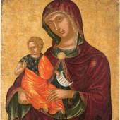 Madre della Consolazione, Nikolaos Tzafouris (ca. 1455-1502), 59,3 x 47 cm (Limitpreis 15.000 Euro)