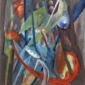 """Fritz Winter (1905 – 1976)  """"Entfaltung 1"""" Öl auf Papier   49 x 40cm Ergebnis: 219.500 Euro Int. Auktionsrekord für eine Papierarbeit von diesem Künstler*"""