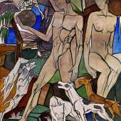 Johan Thorn Prikker Die Jugend, 1923 Wandgemälde Secco-Technik: kalkechte Farbpigmente mit Kasein 390x316cm © Kunstmuseen Krefeld