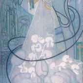 Johan Thorn Prikker Die Braut / de bruid, 1892/93 Gemälde Öl auf Leinwand 147,1 x 88,2 / 151,5 x 92,5 cm © Sammlung Kröller-Müller Museum, Otterlo, Niederlande
