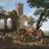 Andrea Locatelli 'Ein Briganten-Lager in Ruinen' (Lot. 36)
