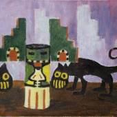 Emil Nolde 1867–1956 Exotische Figuren II (Exotic Figurines II), 1911  Öl auf Leinwand 65,5 x 78 cm Nolde Stiftung Seebüll © 2016 Nolde Stiftung Seebüll für das Werk von Emil Nolde