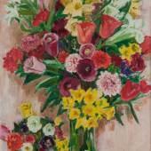 BALWÉ, ARNOLD 1898 Dresden - Feldwies am Chiemsee 1983 Stillleben mit bunten Blumen