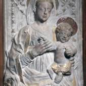 Marmorrelief mit Madonna und Kind 15. Jahrhundert, vielleicht Werk des Gregorio di Lorenzo (ca. 1436–1504)