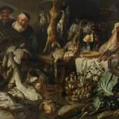 Adriaen van Utrecht (1595 – 1652) und Werkstatt  Die Vorratskammer   Öl auf Leinwand 187x298cm Ergebnis: 77.500 Euro