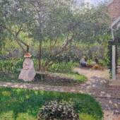 Camille Pissarro, Zahradní koutek v Éragny (Malířův domov), 1897 Camille Pissarro, A Corner in the Garden, Éragny, 1897 © Ordupgaard, Copenhagen / Photo Anders Sune Berg
