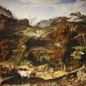Joseph Anton Koch. Der erste Nazarener?  Berner Oberland (Das Haslital bei Meiringen), 1817, Öl auf Leinwand  © TLM