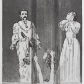 Max Klinger, Entsetzen, Blatt 44, aus: Zelt, Opus XIV, 1915, Radierung und Aquatinta, 58,3 x 40 cm, Privatsammlung