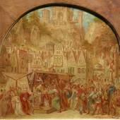 Moritz von Schwind, Ritter Kurts Brautfahrt. Ölskizze, 1835. Öl auf Kupfer, 23 x 24 cm. Staatliche Museen zu Berlin, Nationalgalerie. Foto: Andres Kilger
